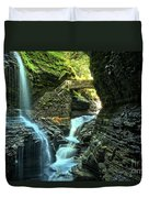 Watkins Glen Waterfalls Duvet Cover