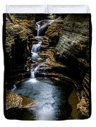 Watkins Glen Waterfalls Duvet Cover