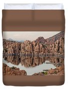 Watson Lake Tranquility Duvet Cover by Angie Schutt
