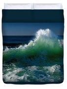 Wave Crashing On Pacific Coast, Oregon Duvet Cover