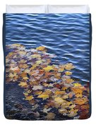 Wave Of Fall Leaves Duvet Cover