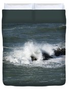 Wave On The Rocks Duvet Cover