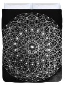 Wave Particle Duality Black White Duvet Cover