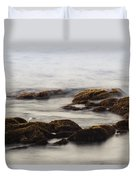 Waves And Rocks Duvet Cover