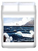 Waves And Tern Duvet Cover