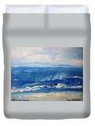 Waves At West Cape May Nj Duvet Cover