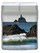 Waves Breaking At Ecola State Park Duvet Cover