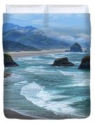Waves Coming Ashore Duvet Cover