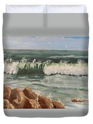 Waves Crashing Duvet Cover
