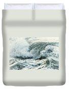 Waves In Stormy Ocean Duvet Cover