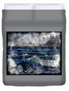 Waves - Ocean - Steel Engraving Duvet Cover