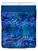 Waves Of Blue - Abstract Art Duvet Cover