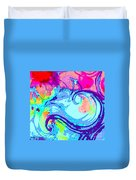 Waves Of His Love Duvet Cover