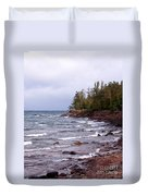 Waves Of Lake Superior Duvet Cover