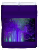 Waves Of Violet - Abstract Duvet Cover