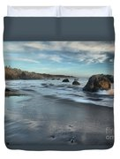 Waves On The Rocks Duvet Cover by Adam Jewell