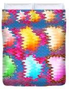 Waves Pattern Crystals Jewels Rose Flower Petals Duvet Cover