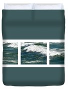 Waves Triptych Ll Duvet Cover