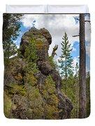 Waving Rock At Yellowstone Duvet Cover