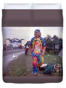 Wavy Gravy At Woodstock Duvet Cover by Chuck Spang