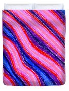 Wavy Oil Pastel Duvet Cover by Hakon Soreide