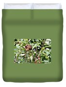 Waxwing Meal Duvet Cover