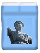 Waynesburg University Statue Duvet Cover