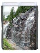 Wayside Waterfall - Acadia Np Duvet Cover