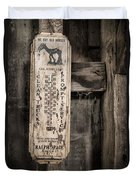 We Buy Old Horses - Vintage Thermometer Duvet Cover