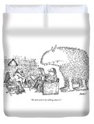 We Deal With It By Talking About It Duvet Cover by Edward Koren