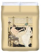 We Gorged With Grapes And Figs Least Duvet Cover by Joseph Kuhn-Regnier