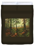 We Know That Stags Here Somewhere Duvet Cover