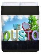 We Love Houston Texas Duvet Cover