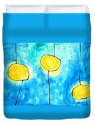 We Make A Family - Abstract Art By Sharon Cummings Duvet Cover