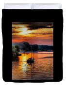 We Sail At Sunrise Duvet Cover