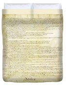 We The People Constitution Page 2 Duvet Cover