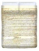We The People Constitution Page 3 Duvet Cover