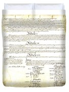 We The People Constitution Page 4 Duvet Cover