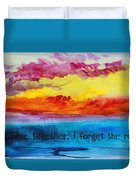 We Were Together I Forget The Rest - Quote By Walt Whitman Duvet Cover