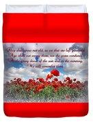 We Will Remember Them... Duvet Cover