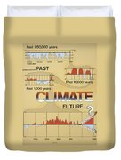 Weather: Climate Change Duvet Cover
