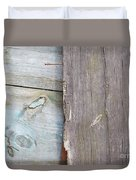 Weathered Wooden Boards Duvet Cover