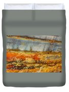 Weathered Wooden Boat - Abstract Duvet Cover