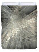 Weaving White And Gray Duvet Cover
