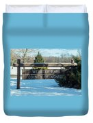 Webster Park Sign Duvet Cover