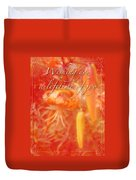 Wedding Joy Greeting Card - Turks Cap Lilies Duvet Cover
