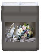 Wedding Shoes And Flowers Duvet Cover