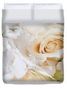 Wedding White Flowers Duvet Cover