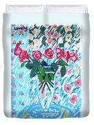 Weekend Roses Duvet Cover