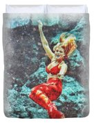 Weeki Wachee Mermaid Duvet Cover